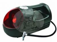 Компрессор автомобильный пластиковый 18 л/мин, с фонарем 2241