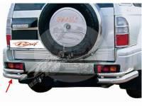 Защита заднего бампера (дуга) TOYOTA LAND CRUISER PRADO 90 (1995-2002) уголки двойные FJ90-B037
