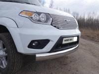 Передняя защита труба одинарная овальная 120х60 ТП на УАЗ Патриот 2015 г.в.